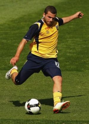 Hoping for a call-up: Glen Trifiro of the Central Coast Mariners.
