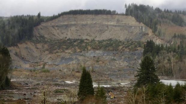 The massive mudslide struck last Saturday near Darrington.