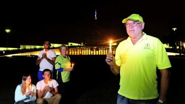 Artist Jorge Pujol of Hervey Bay who has designed the lighting of 3600 candles for Earth Hour at Federation Mall, and ...