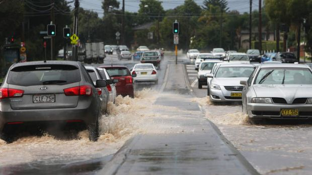 March madness: A severe storm that hit Southern Sydney in mid March caused flash flooding along Port Hacking Rd, Sylvania.