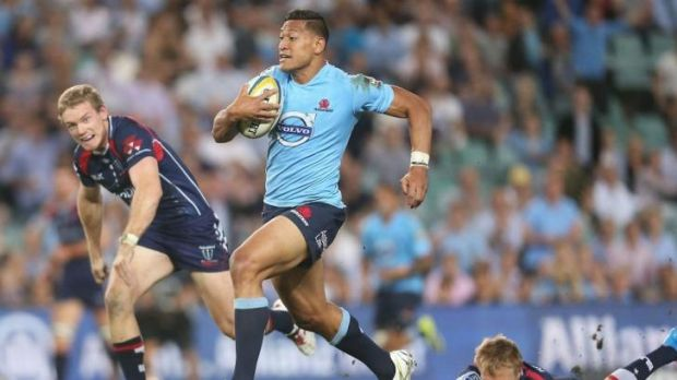 Try machine: Israel Folau has scored eight tries in four Super Rugby games this season.