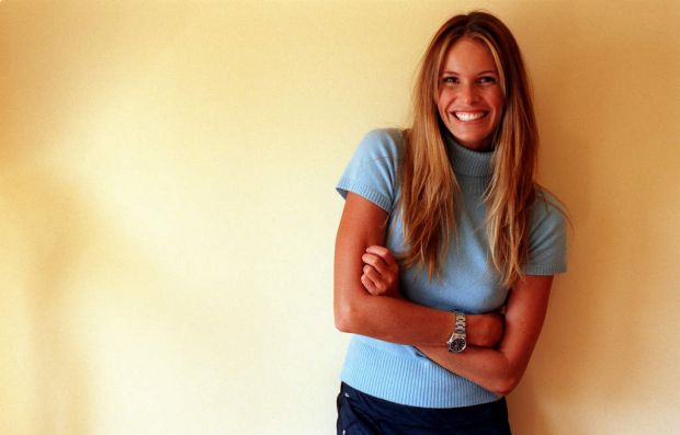 Elle McPherson after her first child and an absence of 2 years in 1998.