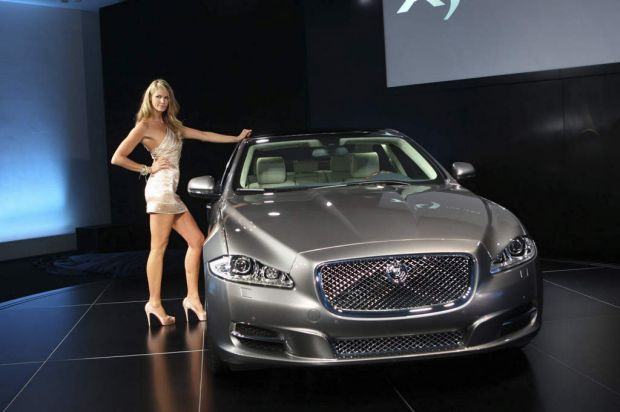 Elle at the global reveal of the all new Jaguar XJ at the Saatchi Gallery in Chelsea in 2009.