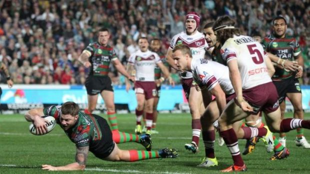 Pushing for discipline: Souths  forward Chris McQueen.