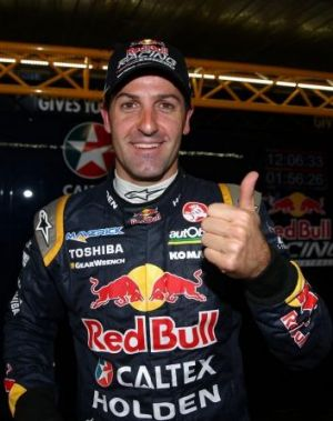 Plains sailing: Reigning series champion Jamie Whincup.