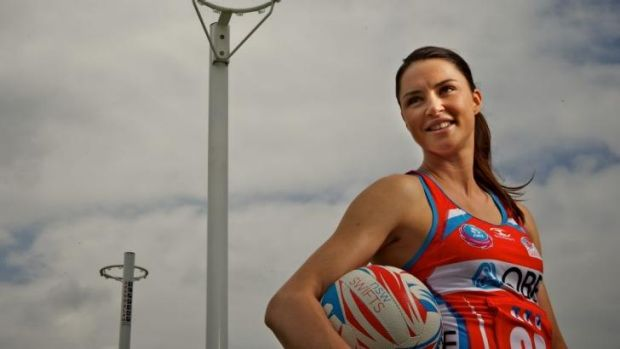 Sights set sky-high: Sharni Layton is ready to take on the top players.
