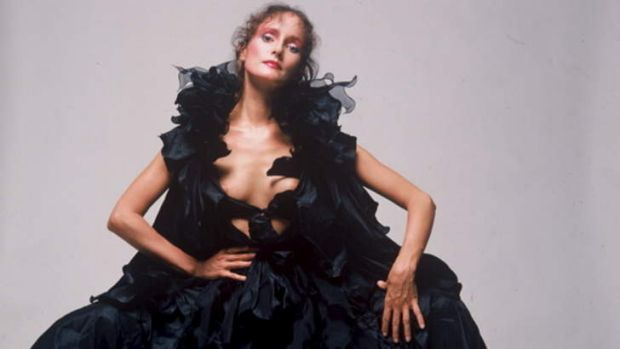 Value in vintage: Linda Jackson's dress Black Magic from her Bush Couture Collection, circa 1976.