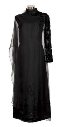 Beril Jents' black evening gown.