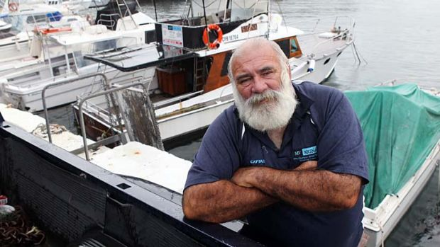 Change of course: Charter boat captain Ross O'Brien is angry his teachers were retrenched.