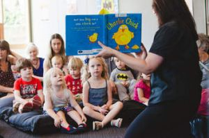Storytime at Belgrave Library.
