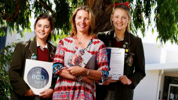 In tune: Connor Dawes' mother, Liz, with Iona Miller (left) and Evelyn Turek support the RCD Fund inspired by Connor's ...