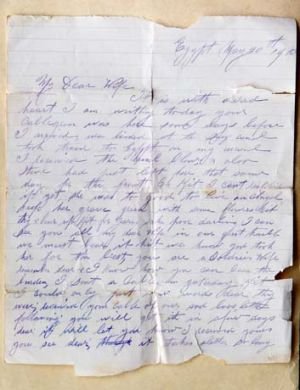 The letter John Crane sent wife Catherine after the death of youngest daughter, Maisie.