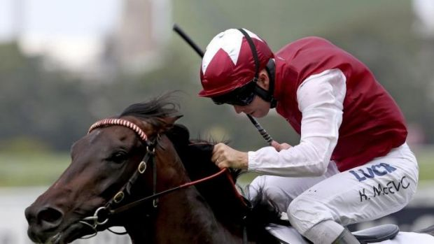 Promising: Kerrin McEvoy rides Sidestep to victory at Rose Hill.