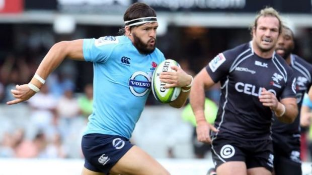 Early highlight: Adam Ashley-Cooper makes a bust for the Waratahs.
