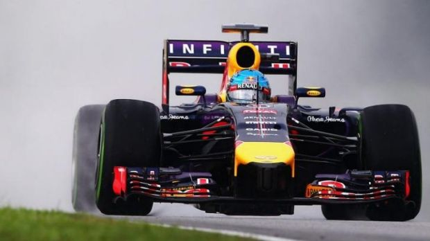 Sebastian Vettel of Germany narrowly missed pole position for the Malaysian Grand Prix.