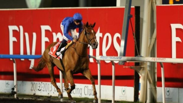 Mickael Barzalona rides African Story to victory.