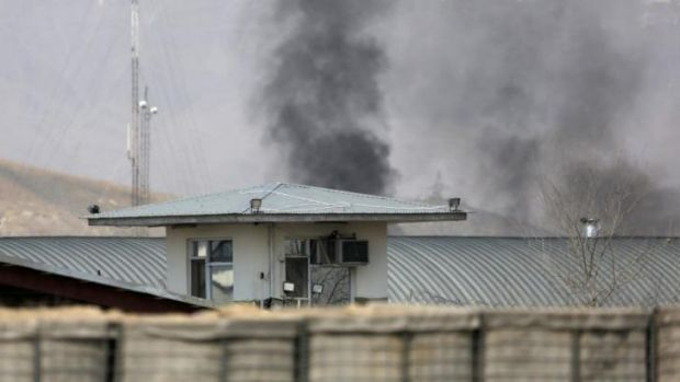 A Taliban attack on the Independent Election Commission headquarters in Kabul on Saturday.
