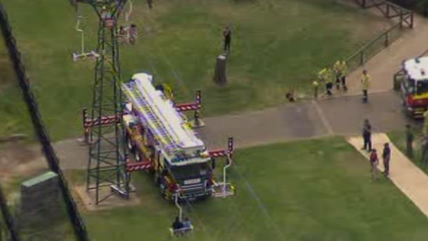 More than a dozen people were on the chairlift when it stopped working.