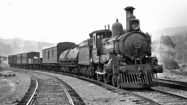 The last train over the line in the Captains Flat yard in 1969.