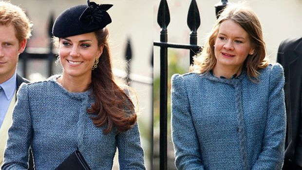 The Duchess of Cambridge and a guest believed to be Sarah Baillie.