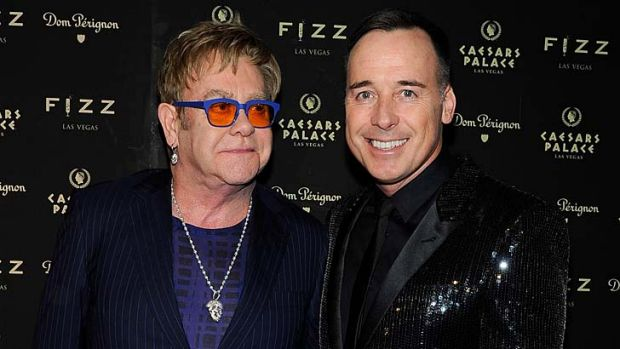 Sir Elton John and his partner, David Furnish.