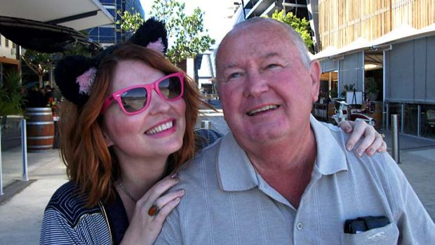 Brisbane Times reporter Amy Remeikis and her father.