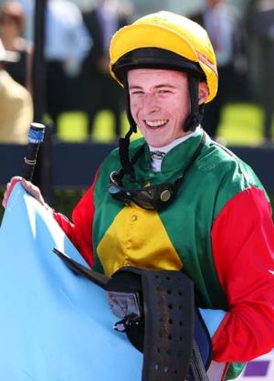 Laughing: Harry Coffey has been riding a steady stream of winners.