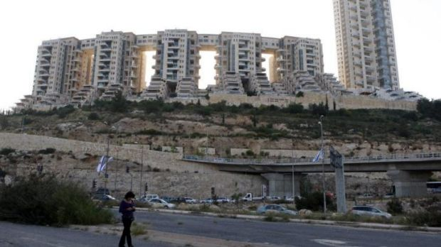 Eyesore: The Holyland apartment complex in Jerusalem was at the heart of the case against Ehud Olmert.