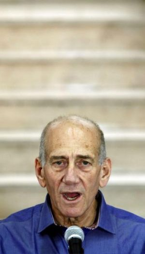 Corrupt: Ehud Olmert was found guilty in a bribery case that forced him to resign the prime ministership in 2008.