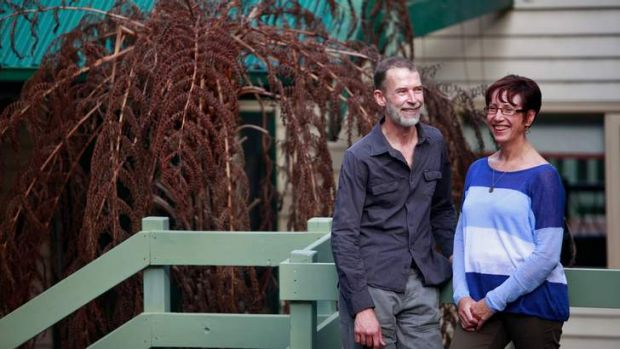 Keeping it small: Pauline and Mark Klemm at their Upwey home.
