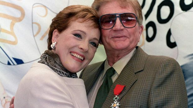 British actress Julie Andrews with her late husband, American film director Blake Edwards in 1992.