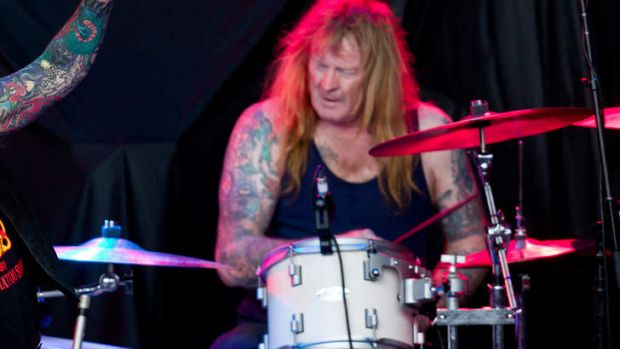 Arrested over alleged guns ring: Rose Tattoo drummer Paul DeMarco.