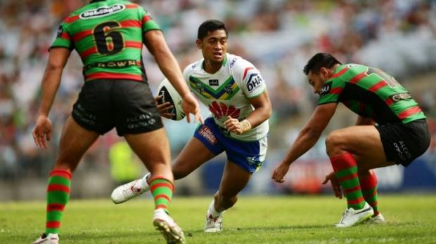 On the boil: Anthony Milford keeps up his strong form against the Rabbitohs.