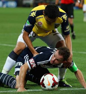 Back: Leigh Broxham will play for Melbourne Victory in its Asian Champions League match.