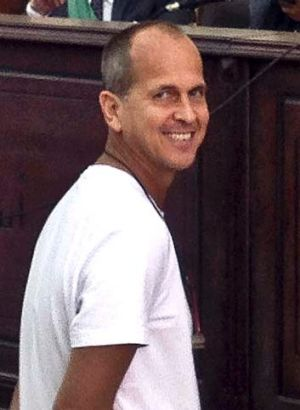 Peter Greste in court on Tuesday.
