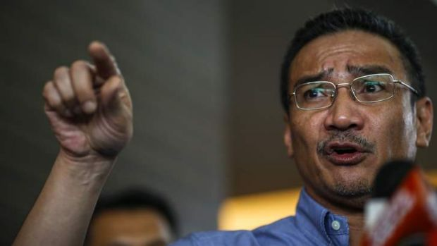 Malaysia's acting Transport Minister Hishammuddin Hussein speaks about the search for the missing Malaysia Airlines ...