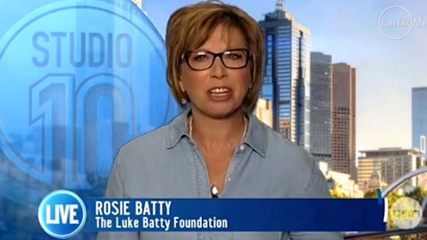 Hitting out: Rosie Batty.