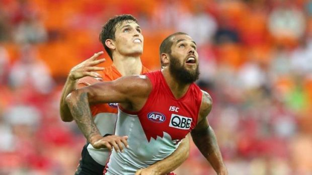 Lance Franklin during Sydney's loss to the GWS Giants.