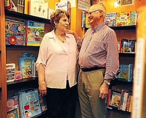 Switch: Barbara and Tony Horgan are shifting their bookstore online.