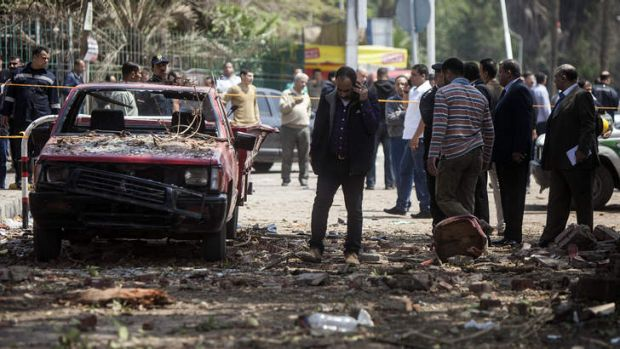 The bombs struck police posts near Cairo University.