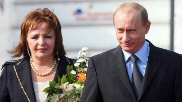 Happier times ... The Kremlin announced today that the divorce of Russian President Vladimir Putin and his wife Lyudmila ...