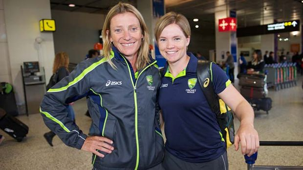 Coach Cathryn Fitzpatrick with Jess Cameron.