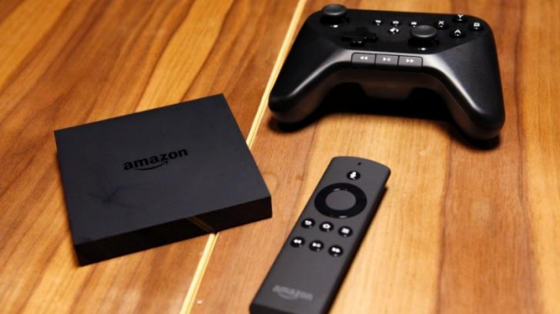 New player: Amazon Fire TV set top box, remote and game controller.