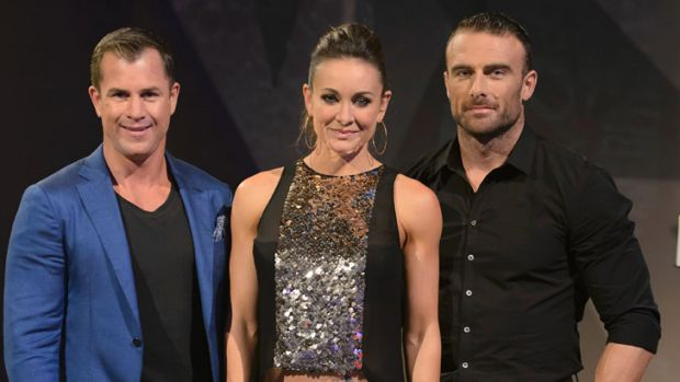 <i>Biggest Losers</i> trainers Shannan Ponton, Michelle Bridges and The Commando.