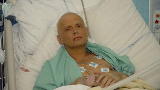 Gravely ill: Alexander Litvinenko on his death bed at University College Hospital, London in November, 2006.