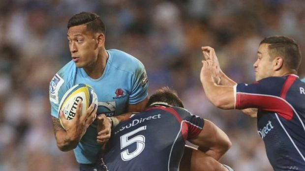 Out: Israel Folau will miss just his second Super Rugby match for the Waratahs.