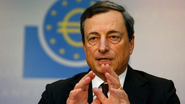 "Staving off deflation: Mario Draghi says that buying packaged loans could reduce the ""drag"" on the economy."