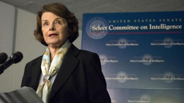 Senate intelligence committee chairwoman Senator Dianne Feinstein.