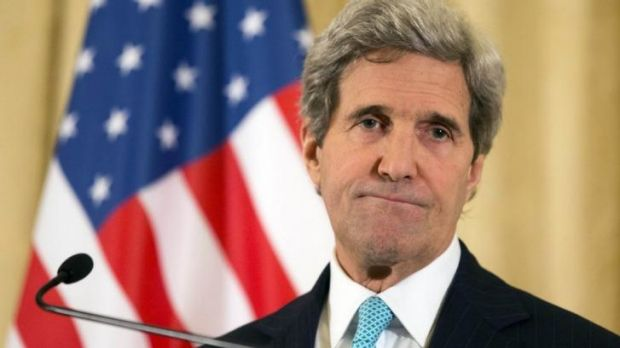"US Secretary of State John Kerry said the Israeli-Palestinian dialogue ""remains open""."
