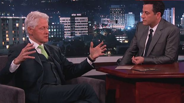 <i>Jimmy Kimmel Live</i> surprise admission ... Ex-President Bill Clinton checked there were no aliens being kept at ...